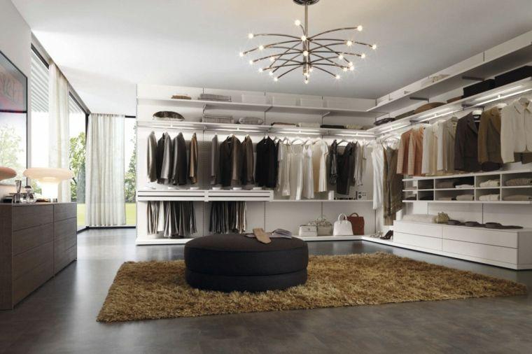 armario sin puertas y otomana negra | Closets | Pinterest | Armario ...