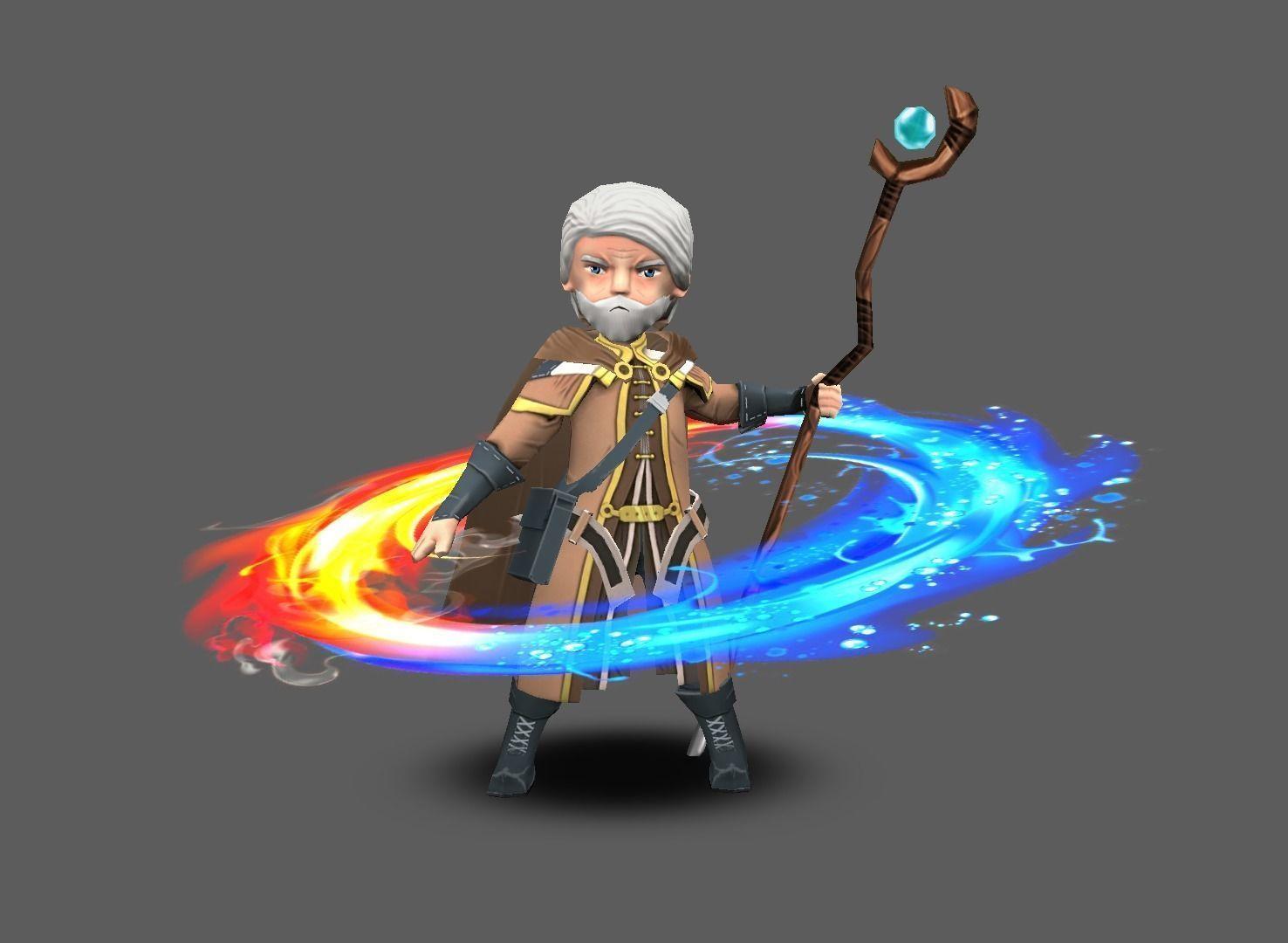 Free realtime mage model freegameresources gameresources