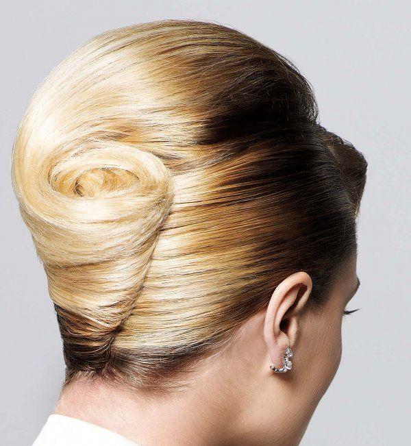 Idée coiffure de mariage un chignon banane classique