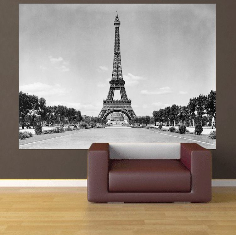 Eiffel Tower Wall Mural Decal France Wall Decal Murals