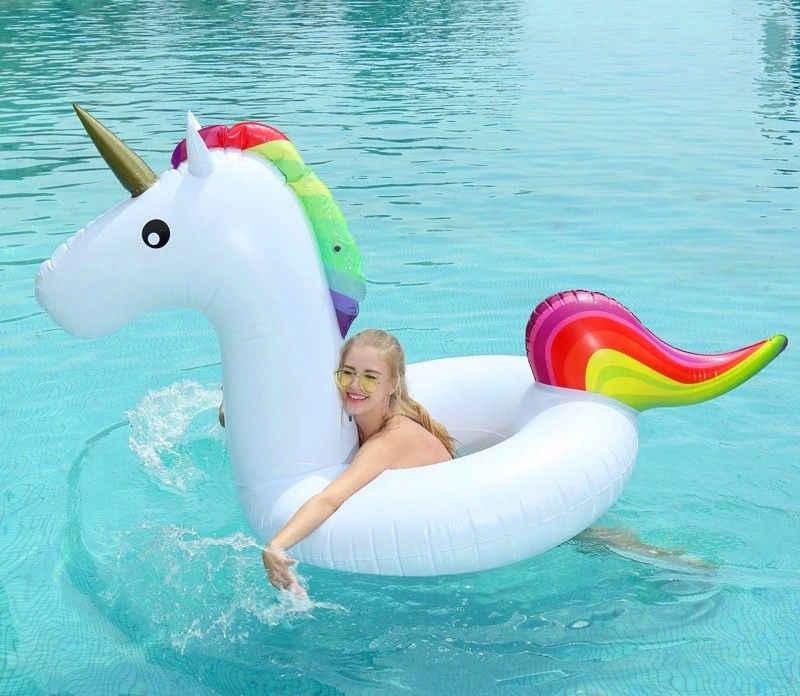 INFLATABLE Swim Pool Floats Raft Unicorn Swimming Fun Kid Water Sports Beach Toy
