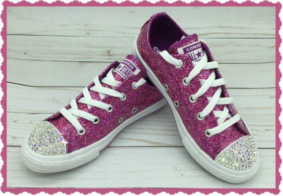 628911cffd4be Children's BLING CONVERSE Classic Low Top Swarovski Chucks ...
