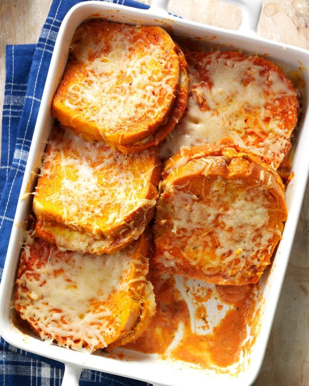 Taste of Home on Instagram Grilled Cheese 038 Tomato Soup Bake This is similar to a savory french toast casserole and combines two favorite dishes grilled Taste of Home o...