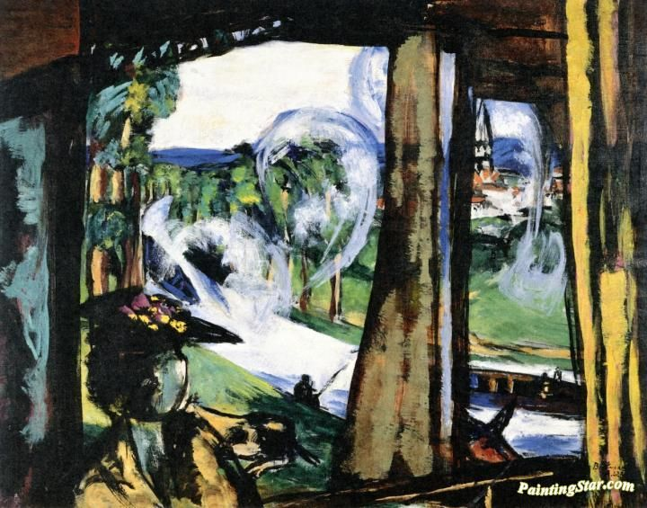 On the Train (Northern France) Artwork by Max Beckmann Hand-painted and Art Prints on canvas for sale,you can custom the size and frame
