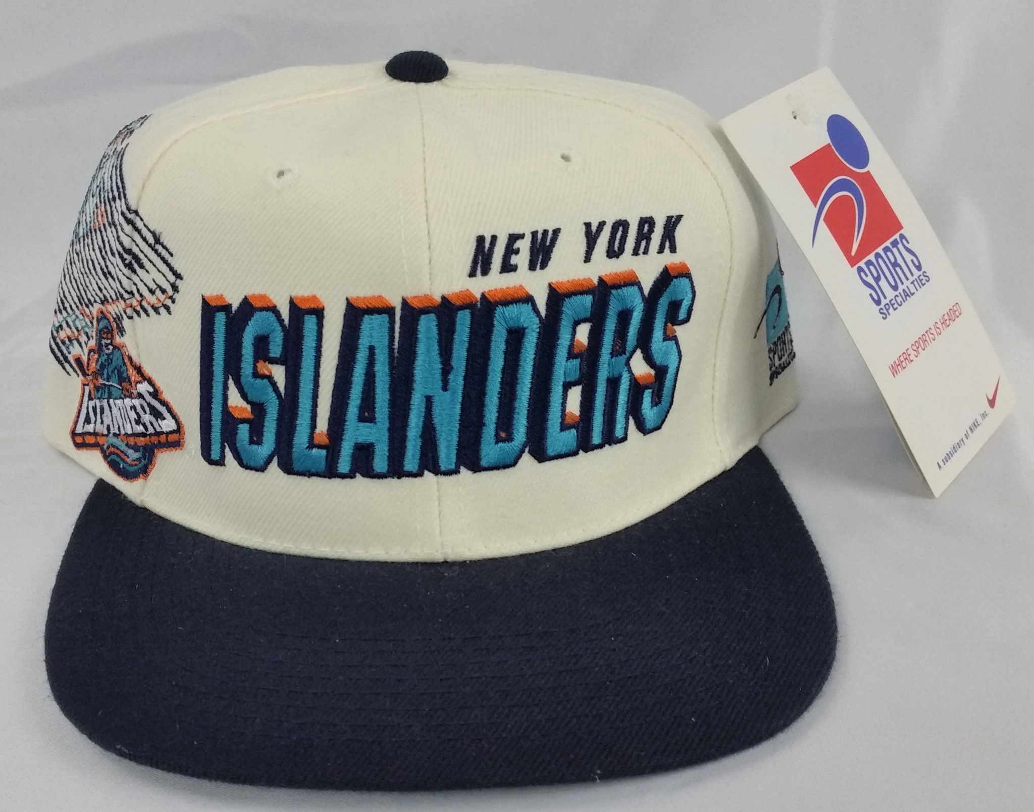 New York Islanders Vintage Snapback Sports Specialties Shadow Hat NWT Rare  Cap Fisherman 90 s Logo 3a4450e5dba