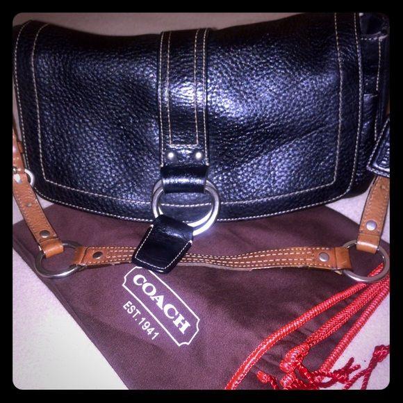 Spotted while shopping on Poshmark  VINTAGE BLACK PEBBLED COACH BAG!   poshmark  fashion 4ee8a9b0f1