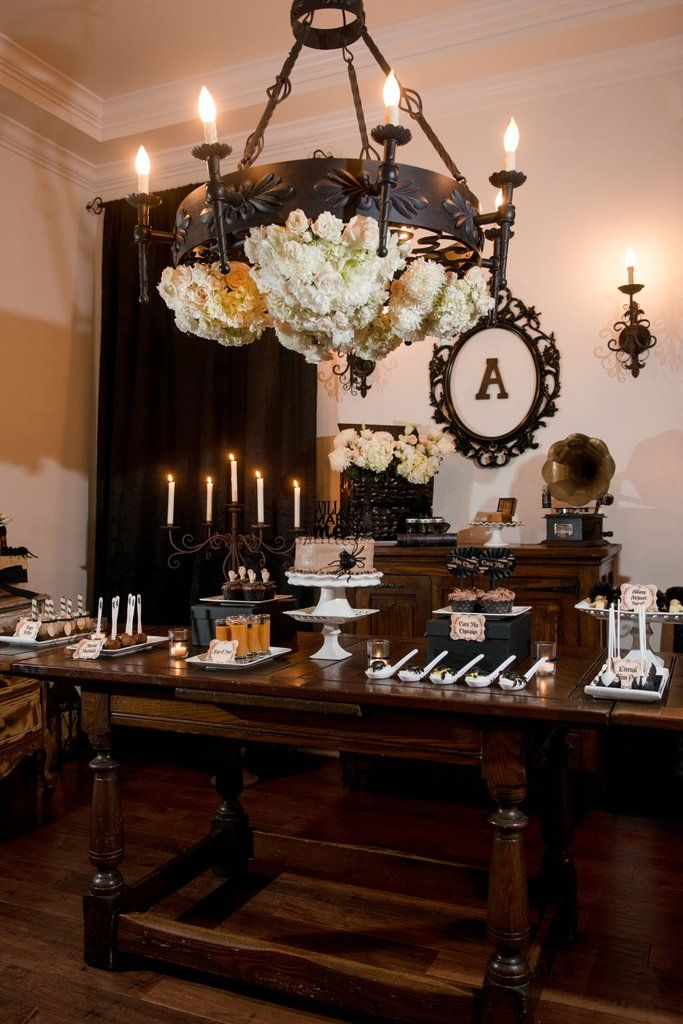 You ll Be Creepily Captivated by This Addams Family Engagement Party