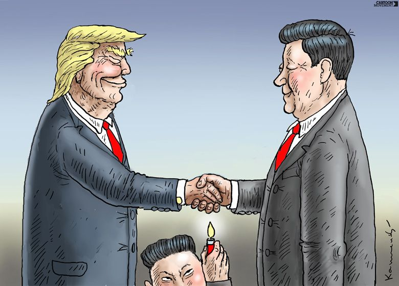 Trump In China Today S Cartoon By Marian Kamensky Https Www Cartoonmovement Com Cartoon 38655