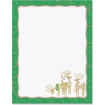 Reindeer Delight Border Papers  Envelopes And Layouts