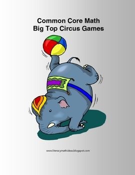 The math centers included in this document are sure to be a big top hit with your students. Just print, cut, and laminate.  They are aligned to the...
