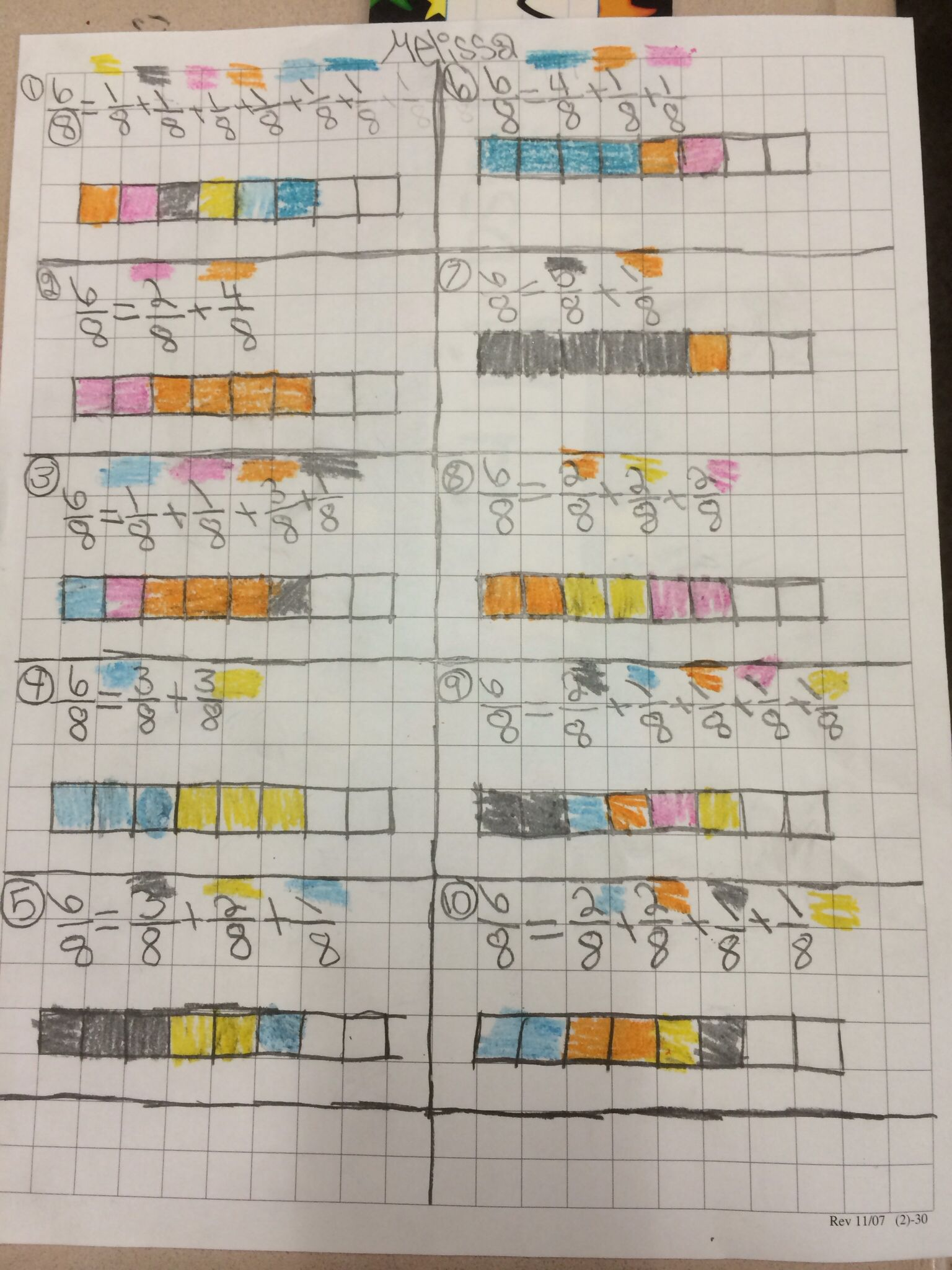 4nf3 decomposing fractions | 4th grade | Pinterest | Fractions