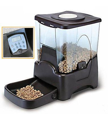 Large Automatic Pet Feeder Electronic Programmable Portion Control Dog Cat Food
