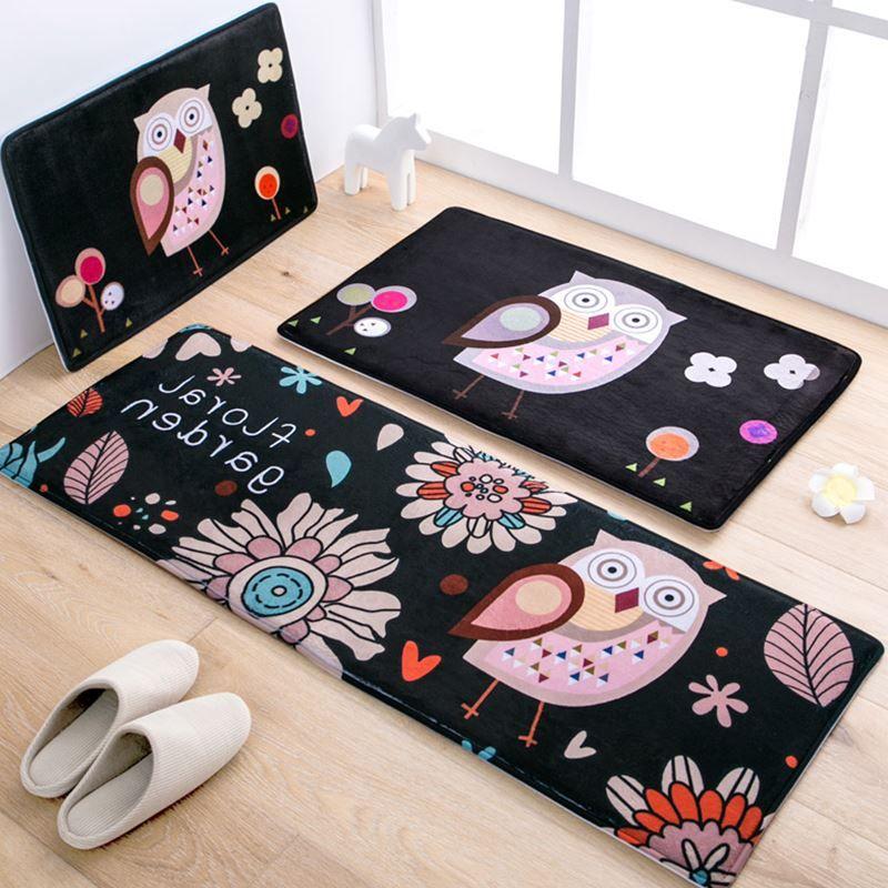 owl kitchen rugs tools and gadgets 50x80 45x120cm set cartoon mat home entrance hallway doormat anti