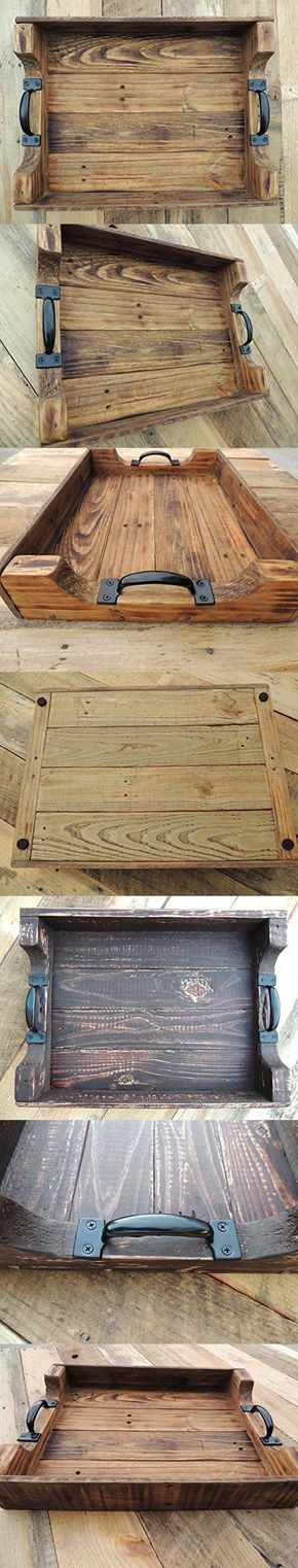 Rustic Wood Coffee Table Serving Tray - Large   Wood table ...