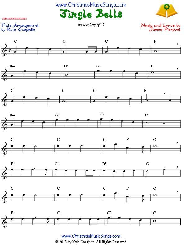 jingle bells sheet music for flute the full version of the carol flutechristmasmusic in 2019. Black Bedroom Furniture Sets. Home Design Ideas