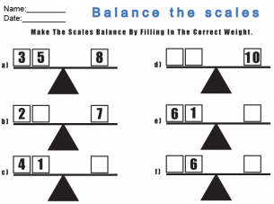 Balance the scale worksheets. Give a like for free #math
