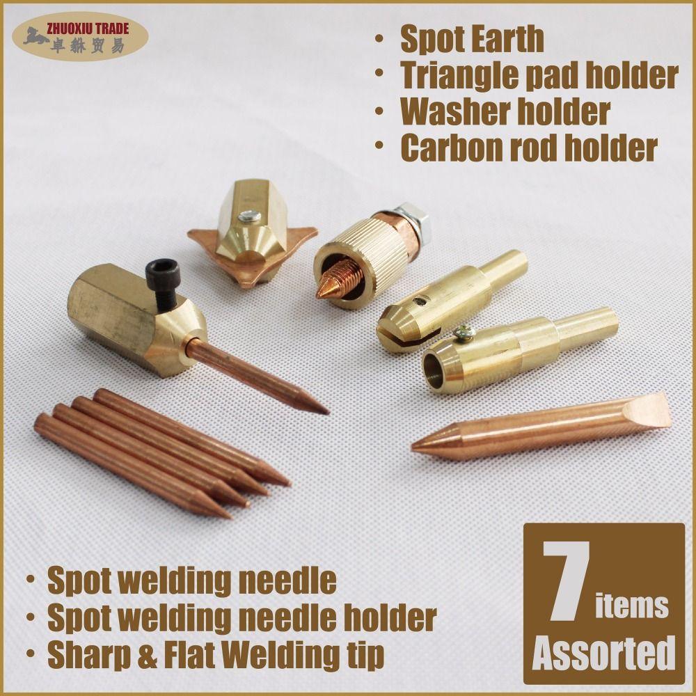 Spot Welding Copper Needle Holder Bodywork Welder Gun Tip Car Dent Repair Parts
