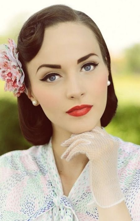 maquillage mari e pin up pin up style pinterest makeup vintage and wedding. Black Bedroom Furniture Sets. Home Design Ideas