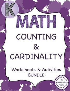 Everything you need to teach Kindergarten Math Counting and Cardinality.
