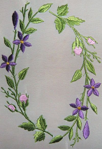 Branch Of Flowers Free Machine Embroidery Design Embroideries