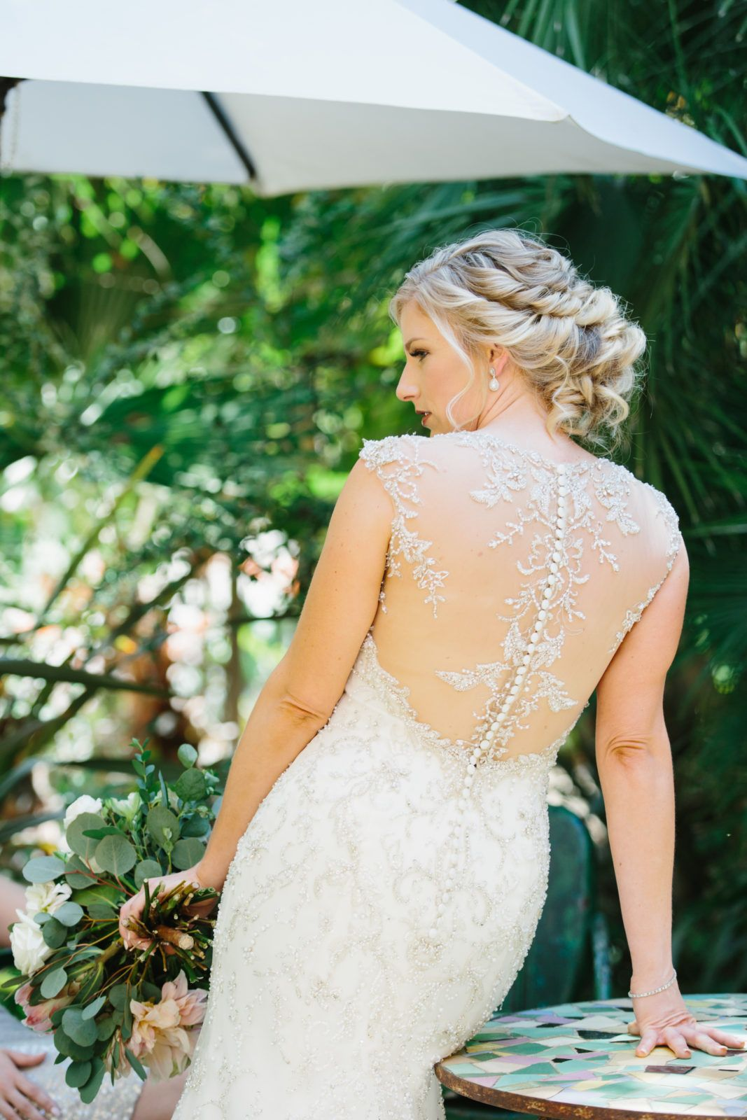 Travel Themed Wedding At Mountain Mermaid Bride With Illusion Back And Button Dress: Mountain Themed Wedding Dress At Websimilar.org