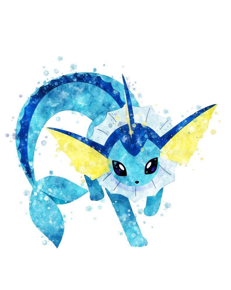 Pokémon ポケモン Vaporeon S Printable Painting At Etsy Cute Pokemon Wallpaper Pokemon Poster Pokemon