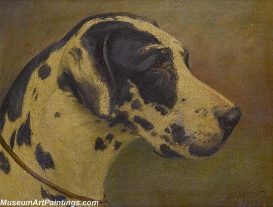 Handmade Dog Portrait Oil Paintings MA084