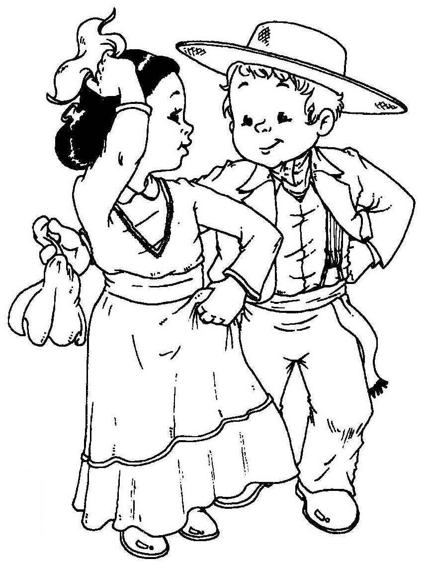Dibujo De Niños Bailando Imagui Kindergessica Bailes De La
