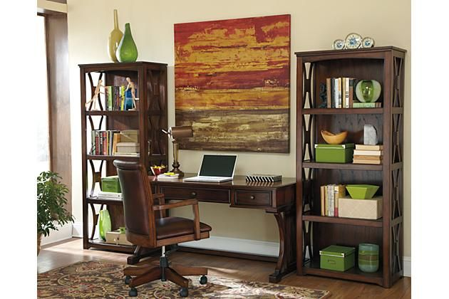 Beautiful X Design Shelving And Desk That Will Enrich The