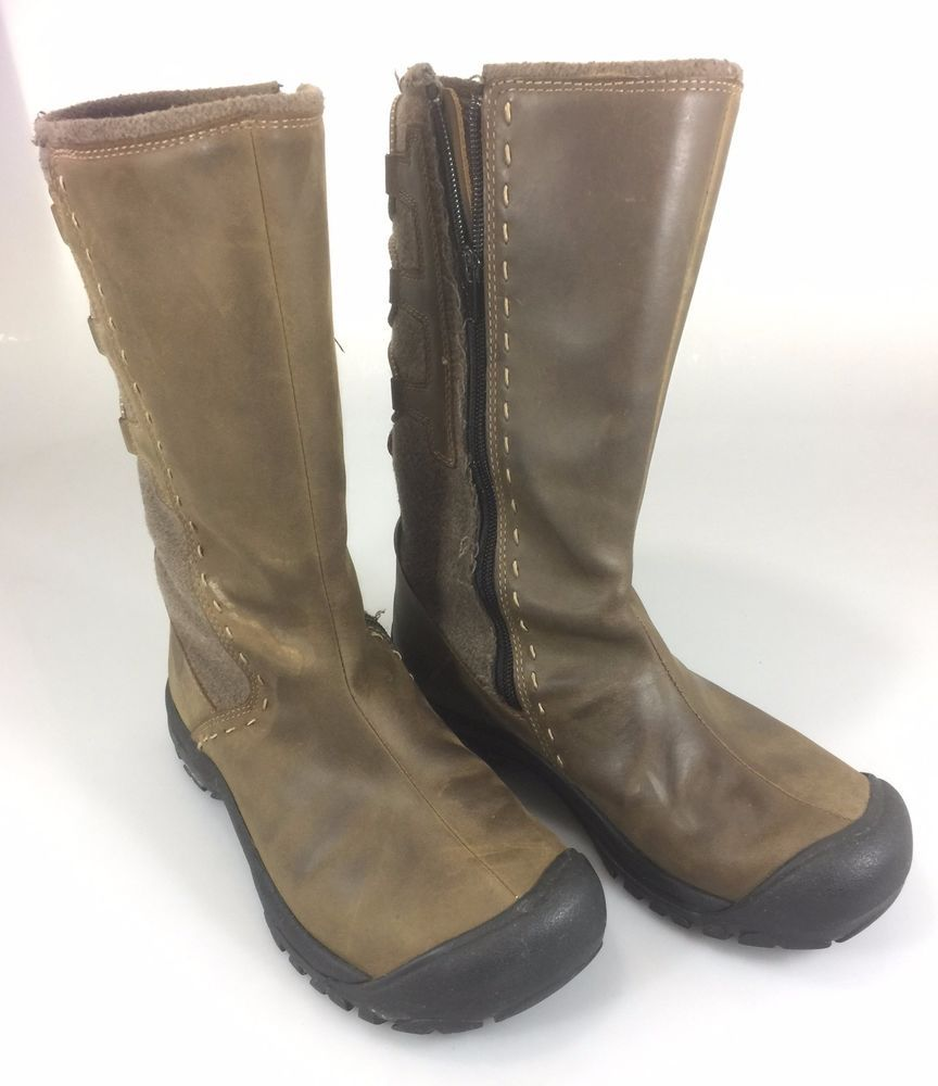 Keen Boots 7.5 Women 38EU 5UK Lace Up Back Brown Leather 12.5