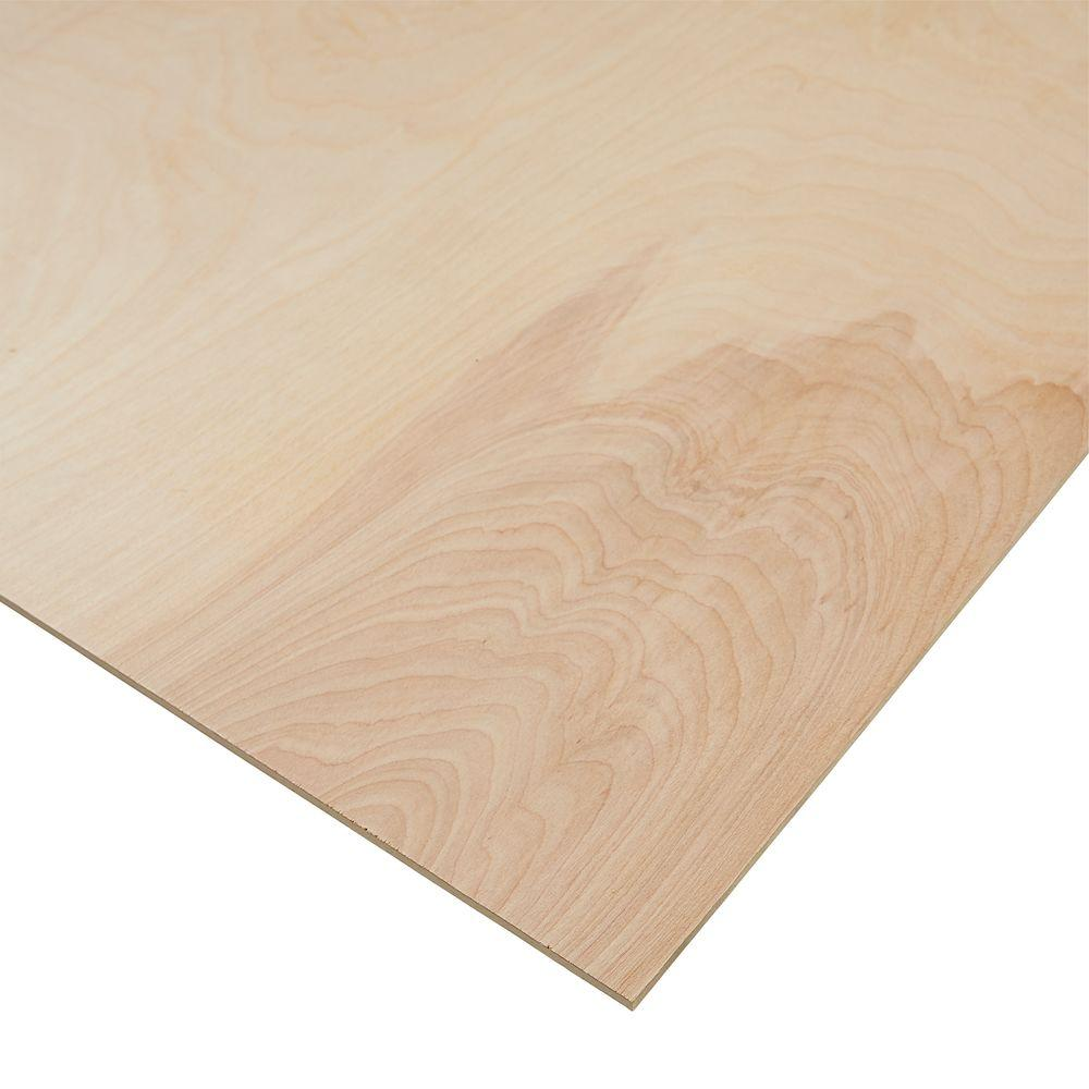 Columbia Forest Products 1 4 In X 4 Ft X 8 Ft Purebond Birch Plywood 165891 The Home Depot Birch Plywood Hardwood Plywood Oak Plywood