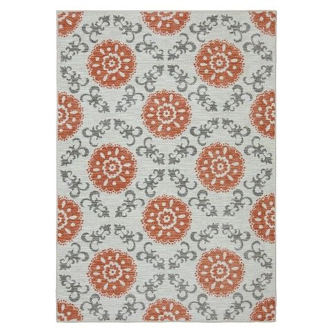 Threshold Medallion Area Rug Coral 87 For 5x7