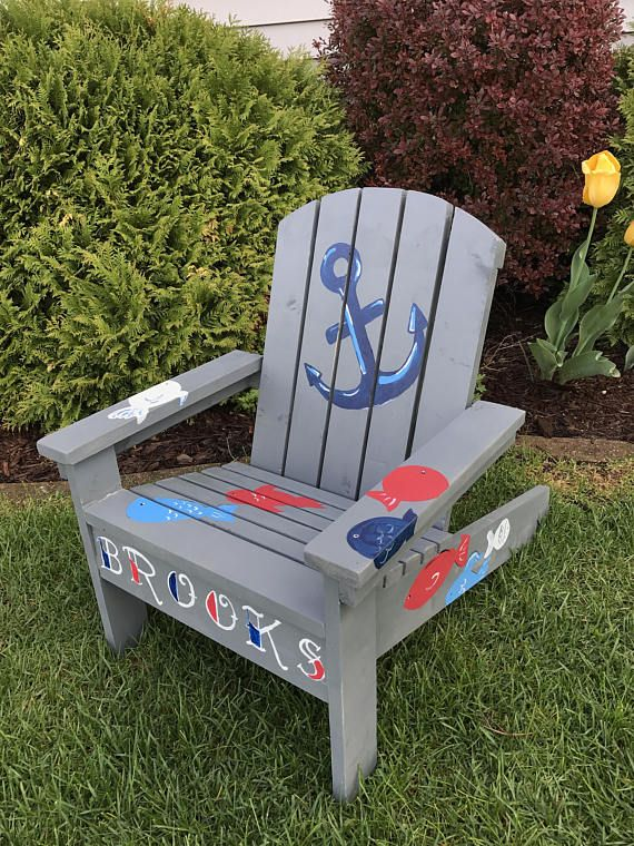 Custom Adirondack Chair Child Size Chair Personalized