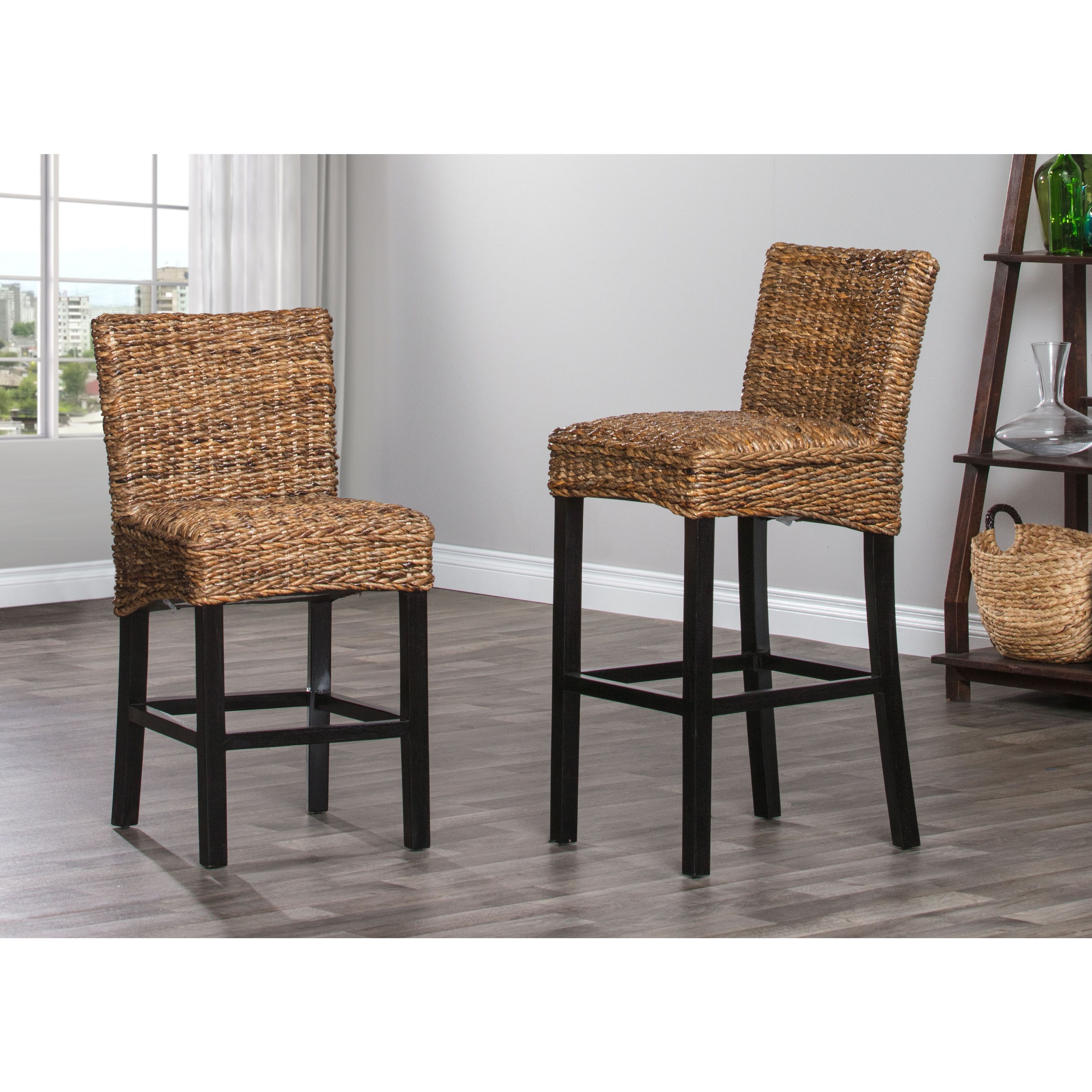 Astounding Portman Rattan 24 Inch Counter Stool By Kosas Home 24 Cjindustries Chair Design For Home Cjindustriesco