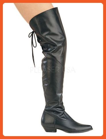 492254082561a Black Leather Thigh Hi Boot - 8 - Boots for women (*Amazon Partner ...