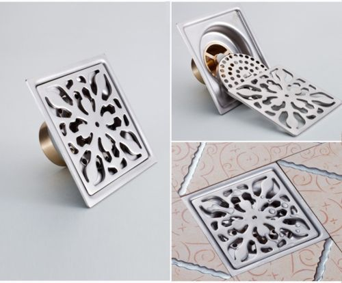 New 3 Inch Stainless Steel Shower Drain Square Floor Waste Grate T586 |  EBay $15