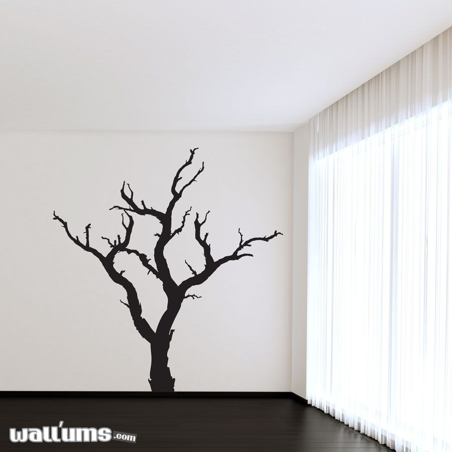 spooky dead tree wall decal tree wall wall decals tree on wall stickers painting id=16778