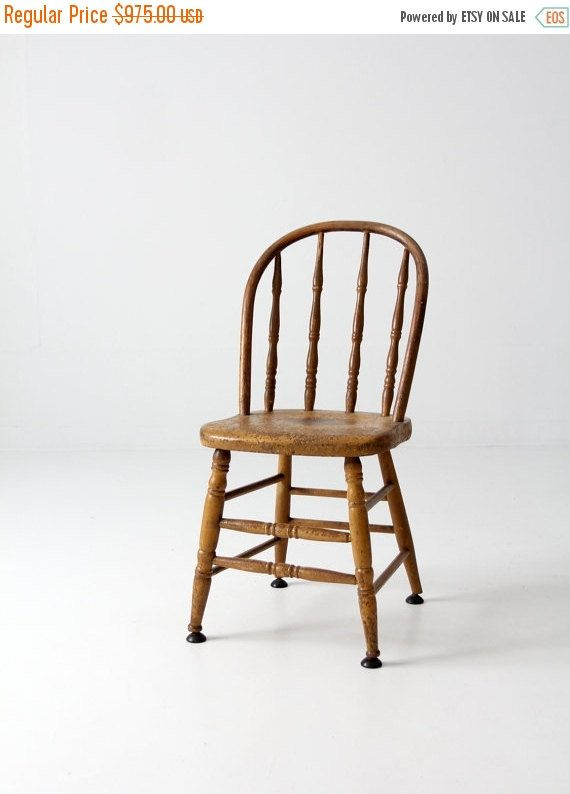 Vintage Wood Spindle Back Chair Painted Kitchen Chair Wooden Kitchen Chairs Wood Chair Kitchen Chairs