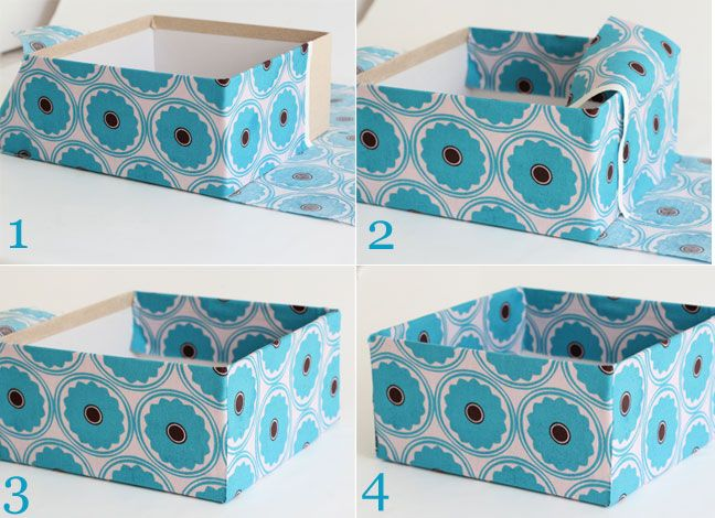 DIY Decor Fabric Storage Boxes - Momtastic & How To Cover A Box in Fabric | Organizing | Pinterest | Box ... Aboutintivar.Com