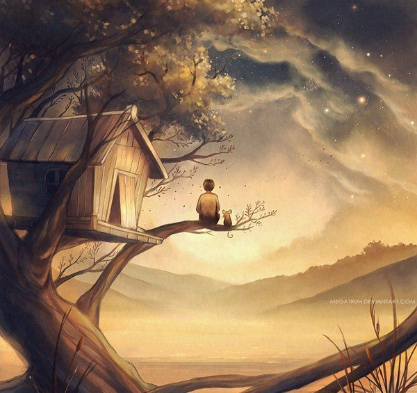 Landscapes Scenery Digital Art By Niken Anindita Tree House