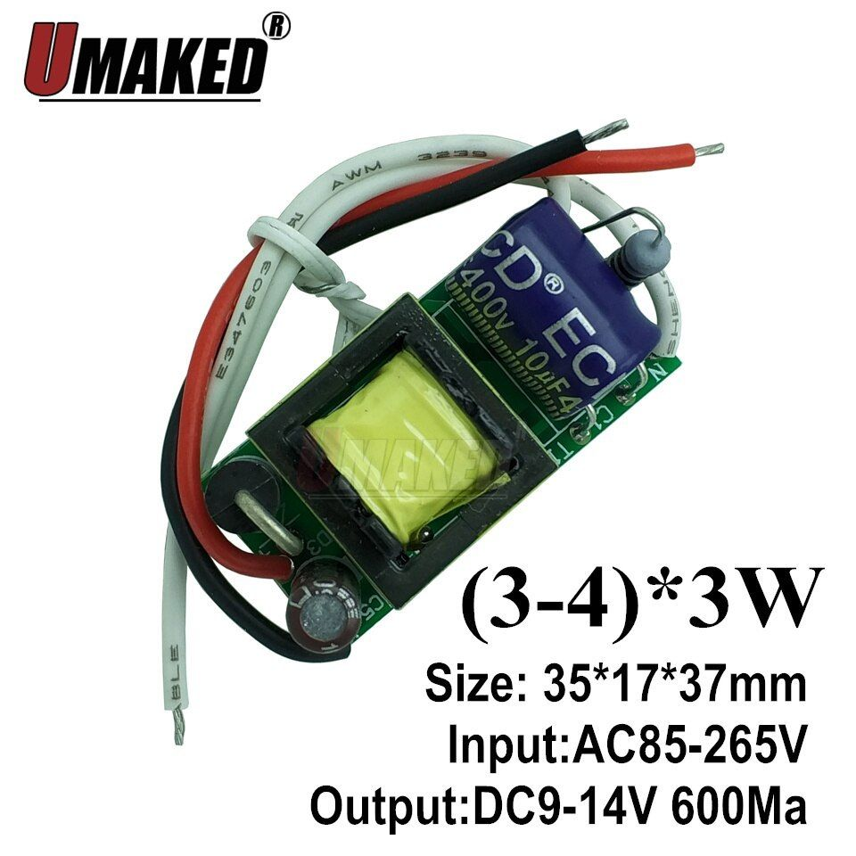 Waterproof LED Driver Power Supply AC 110-220V to DC 12V 48W-400W LED  CA