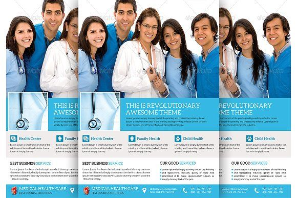 Medical \ Doctor Flyer Template by TheGraphicsWorld on - hospital flyer template