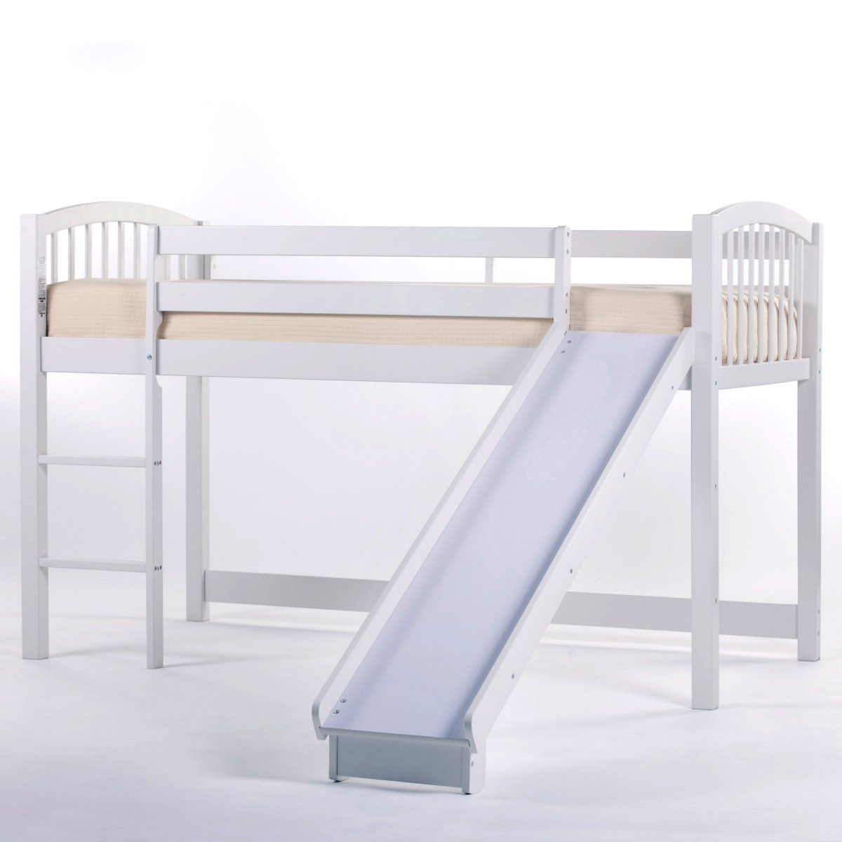 Best Schoolhouse Junior Loft With Slide White Kids Beds At 400 x 300