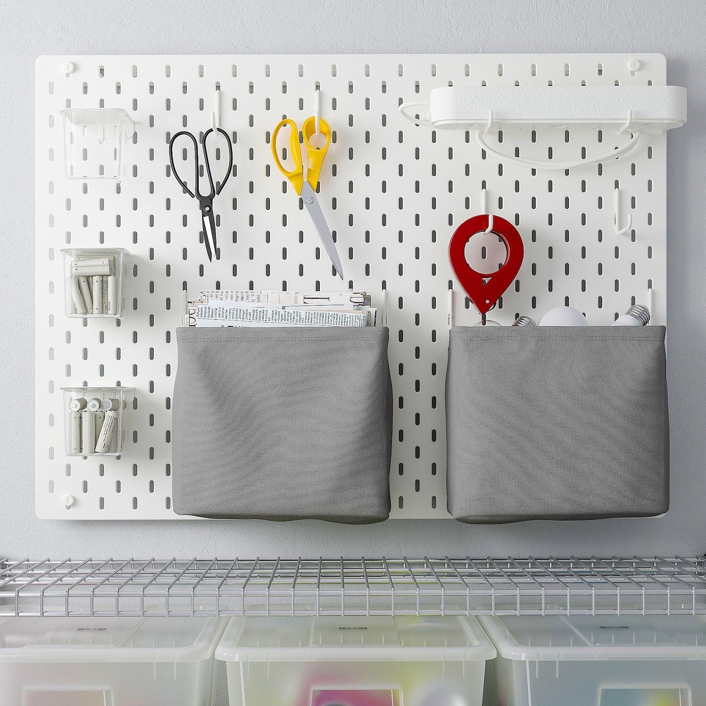 Skadis Lochplatte Kombination Weiss Ikea Osterreich In 2020 Pegboard Accessories Peg Board Ikea