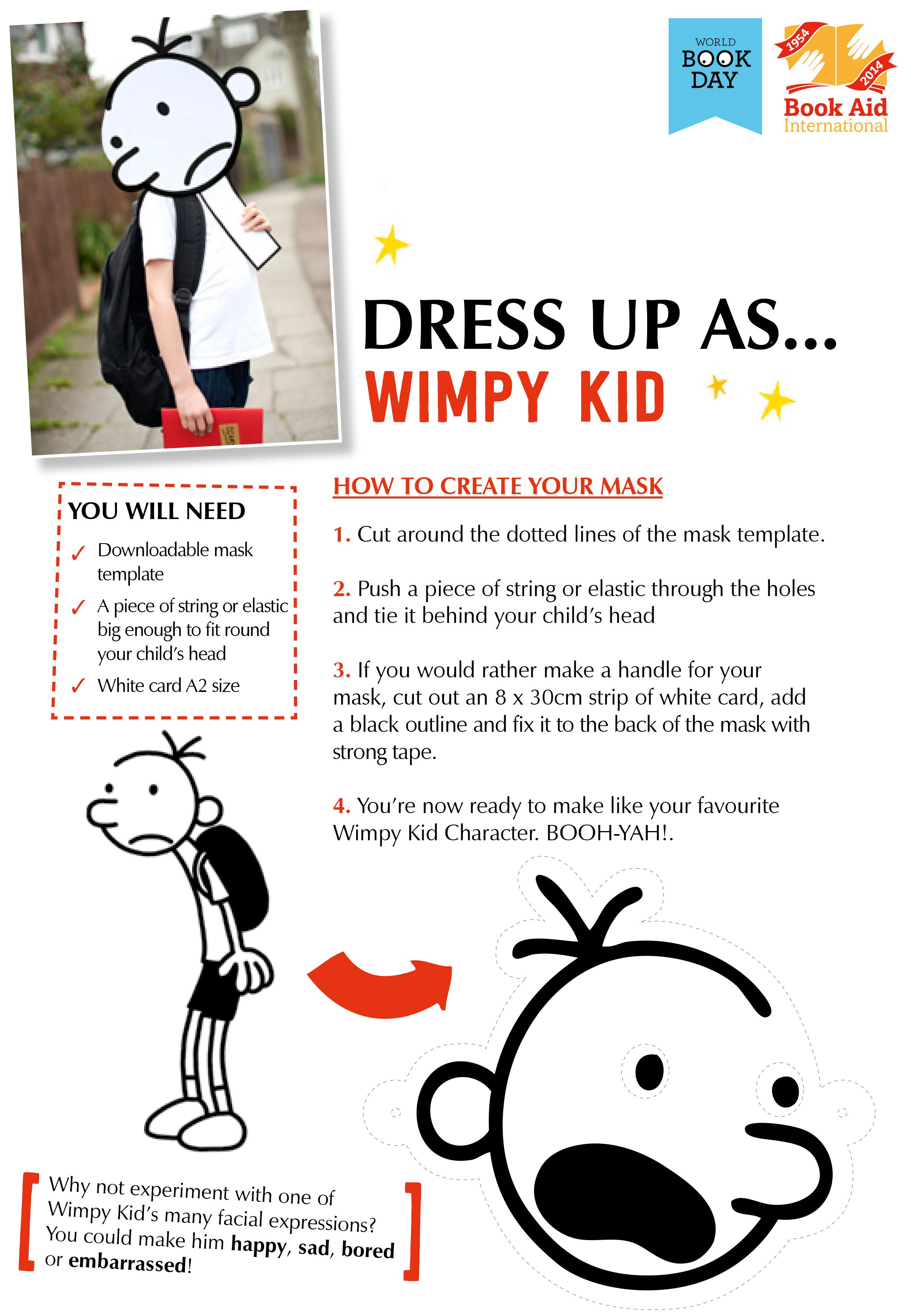 photo relating to Diary of a Wimpy Kid Printable known as Costume Up as \