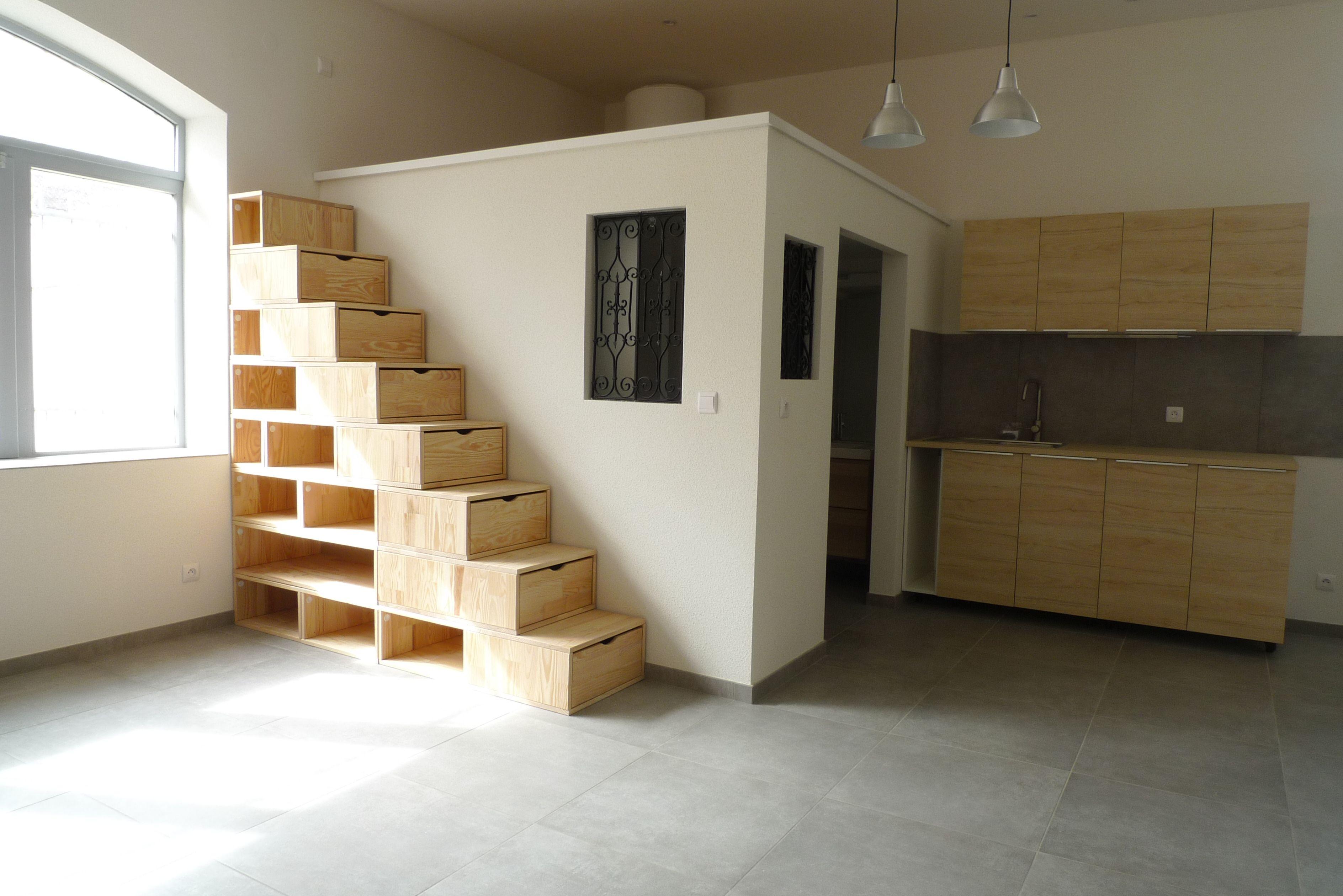 cube rangement escalier
