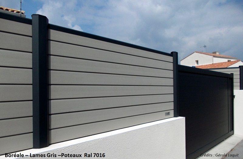 cloture composite bor ale gris clair oc wood cl tures. Black Bedroom Furniture Sets. Home Design Ideas