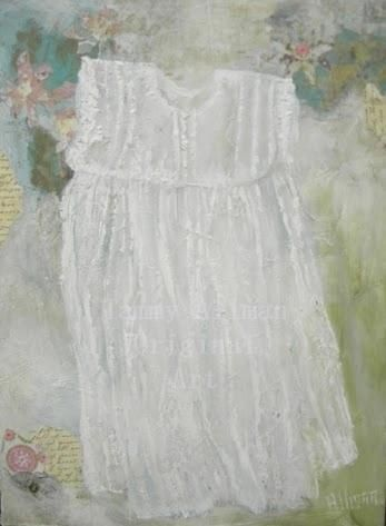 New Custom Little White Dress Oil Painting by artist Tammy Allman located at Kenzies Cottage on Zibbet.