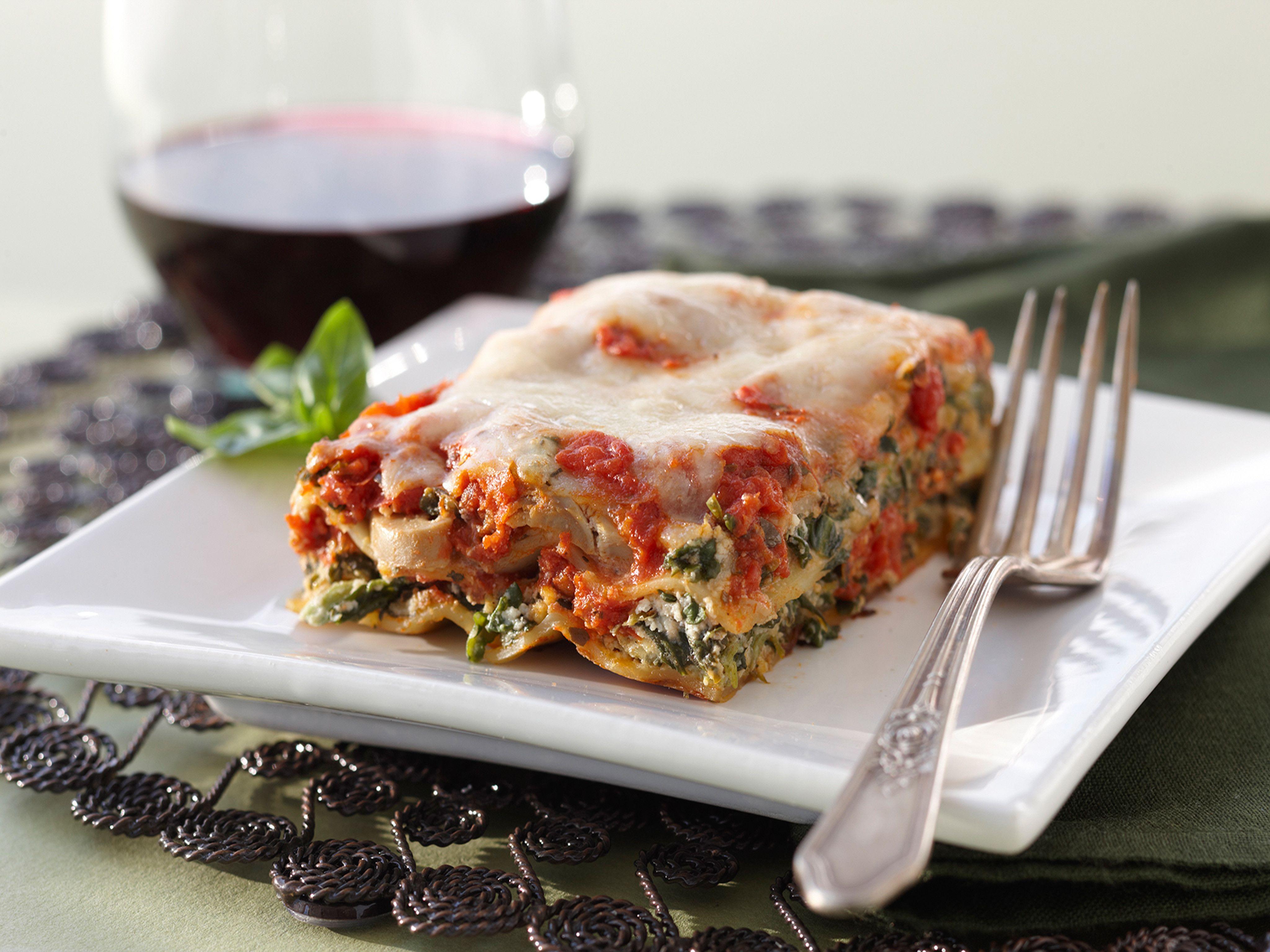 Cheesy spinach lasagna recipe food network recipes