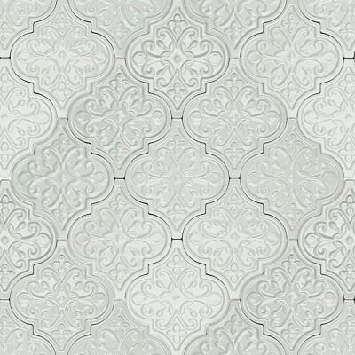 Ivy Hill Tile Vintage Florid Lantern Light Blue 6 1 4 In X 7 1 4 In X 10 Mm Ceramic Wall Mosaic Tile 30 Pieces 4 84 Sq Ft Case Ext3rd104637 The Home D